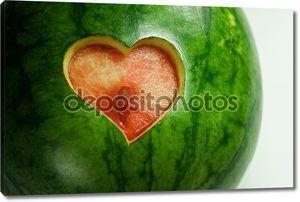 Арбуз с сердца
