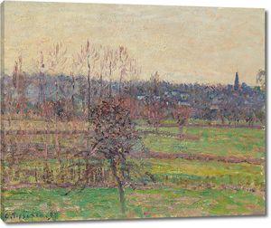 Камиль Писсарро. Вид Базинкура зимой