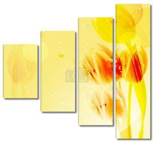Желтый тюльпан фон