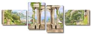 Терраса с аркой и колоннами
