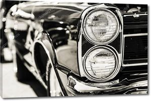 Классический автомобиль фары макро