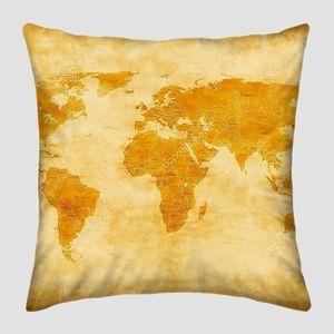Карта континентов в винтажном стиле