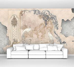 Барочные узоры на винтажной стене