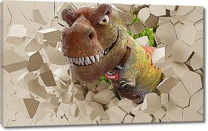 Динозавр из стены