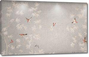 Птицы по растительному рисунку