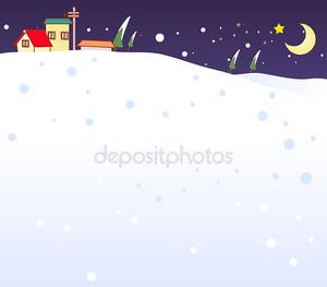Снег в ночь