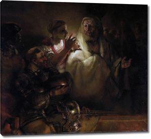 Рембрандт. Отречение Петра