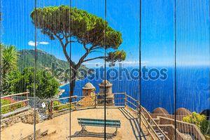Декоративные подвесные Сад, Руфоло сады. Равелло, Амальфи, Италия, Европа