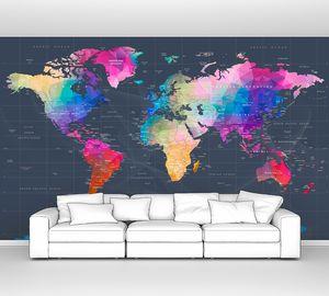 Карта континентов разноцветная