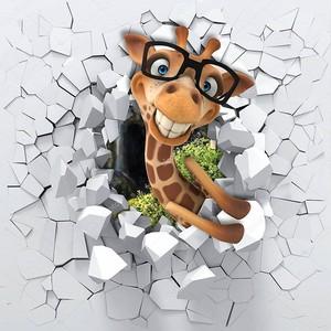 Влюбленный жираф из стены