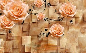 Розы на мраморных кубах