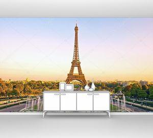 Эйфелева башня на закате, Франция