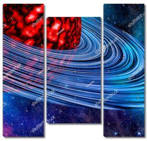 Красная раскаленная планета