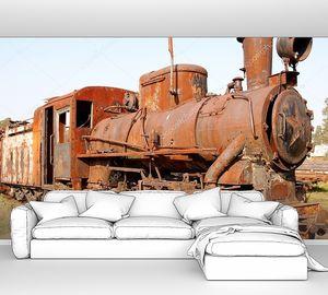 Old rusty steam locomotive