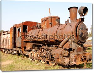 Old rusty steam locomotive