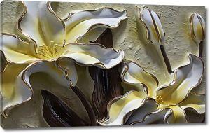 Лилии с золотыми ободками