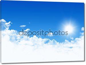 синий фон неба