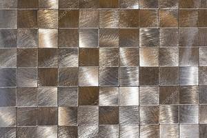 Современный фон из металлических деталей и черный контур. Макросъемка .