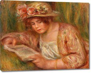 Ренуар. Андре в шляпе за чтением