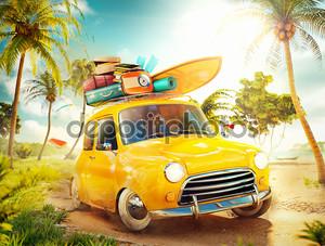 летние путешествия Иллюстрация