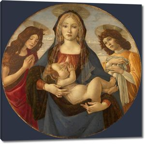 Мастерская Боттичелли. Мадонна с млад., св.Иоанном Крестителем и ангелом