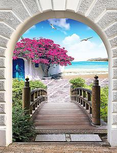 Выход к морю через арку