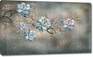 Бархатные цветы на ветке