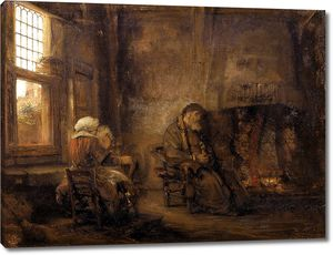 Рембрандт. Товия и его жена