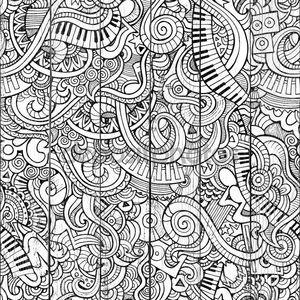 Музыка схематично ноутбука каракули
