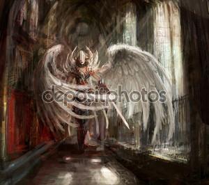 Ангел девушка киборг