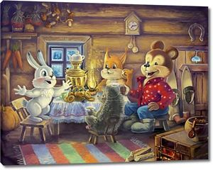 Друзья, пьющие чай