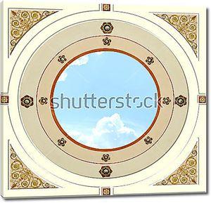 Круг неба в центре плафона