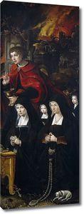 Кук ван Альст Питер. Четверо молящихся с Иоанном Богословом