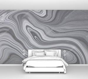 Текстура жидкого искусства. Абстрактный фон с эффектом радужной краски. Жидкая акриловая картина, которая течет и брызгает. Смешанные краски для внутреннего плаката. Черный, белый и серый цвета переполнены.