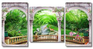 Вид на ручей через арки