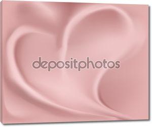 Шелковое сердце фона
