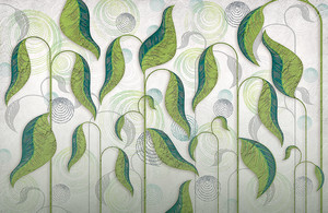 Folium-зеленые листья на стеблях