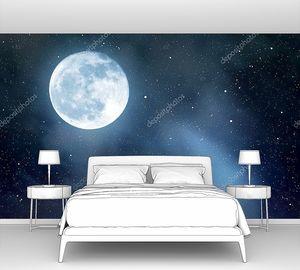 Небо со звездами и луной