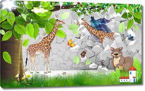 Животные из стены