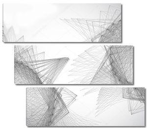 черно-белый геометрический фон