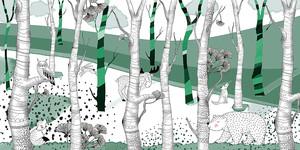 Woodland-зеленый лес с животными