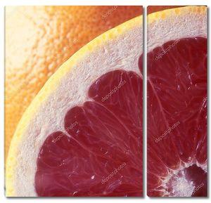 Грейпфрут красный крупным планом