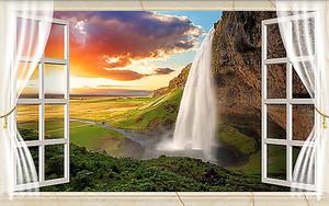 Водопад из открытого окна