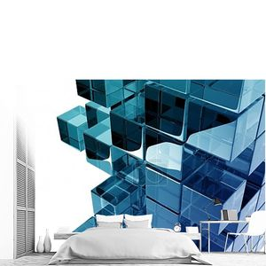 Стеклянных кубов синие блеск