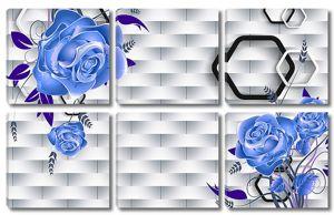 Розы на фоне плетеной стены