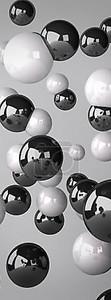 Блестящие и белые шарики