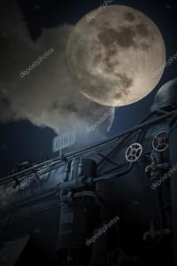 Старый ночной поезд