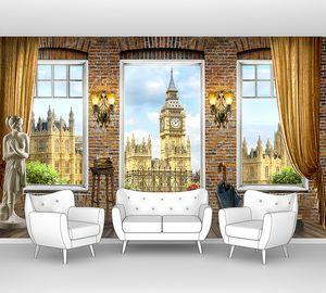 Вид с открытого балкона на Лондон