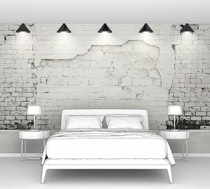 Гранж стена с лампами