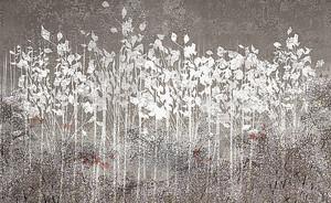 Кусты белой краской